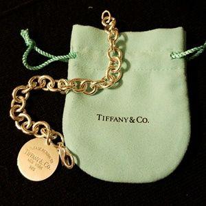 "Genuine Tiffany Round ""Return to Tiffany"" Bracelet"